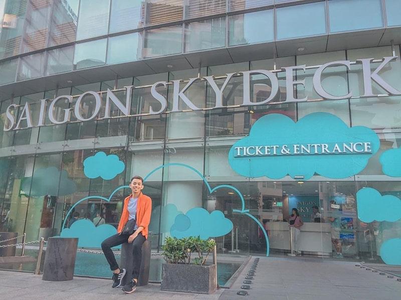 Saigon Skydeck nằm trên tầng 49 của tòa Bitexco