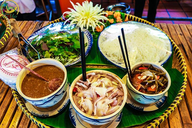 Những món ăn ở làng du lịch Tre Việt