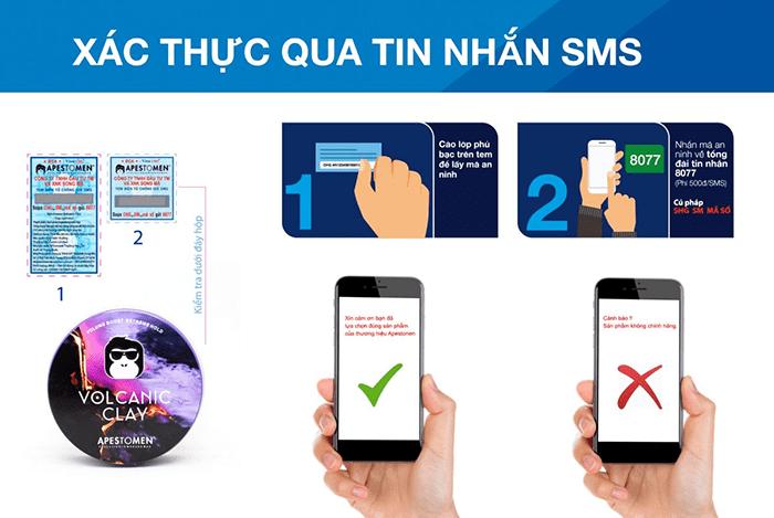 Hướng dẫn xác thực tem qua tin nhắn SMS