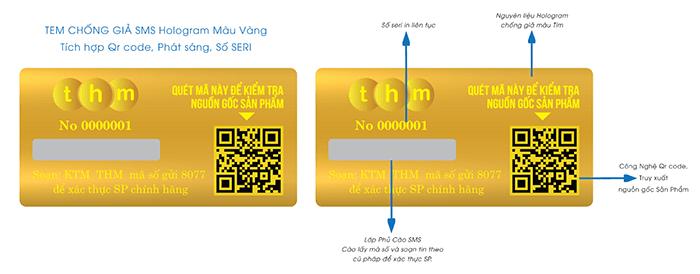 Tem chống hàng giả SMS rất khó làm giả