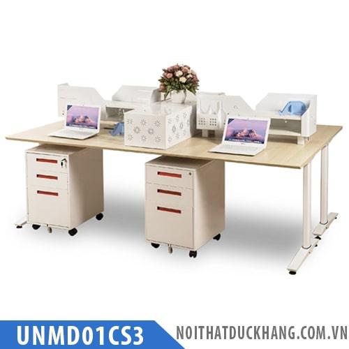 Cụm bàn làm việc 4 nhân viên UNMD01CS3