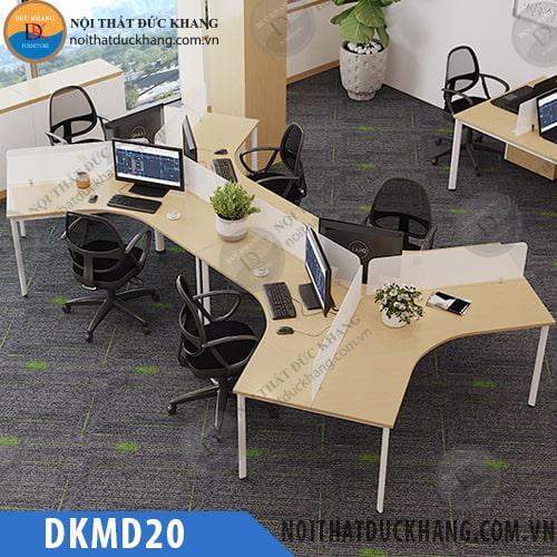 Cụm bàn làm việc 6 nhân viên DKMD20