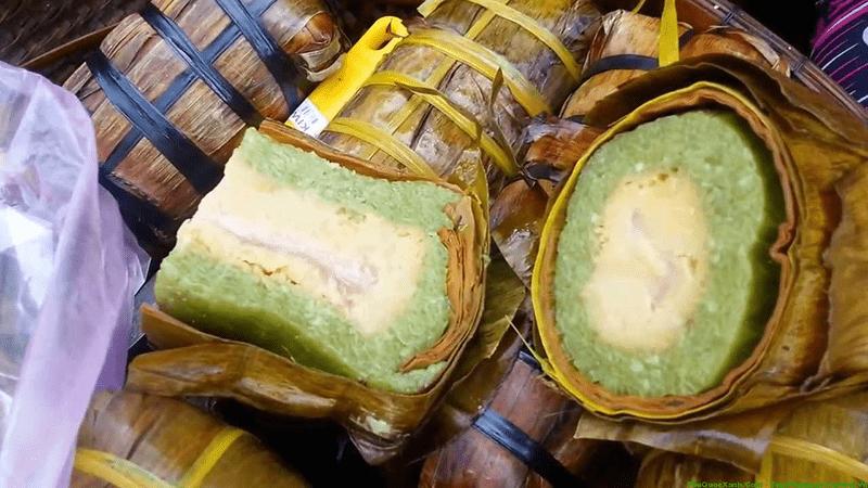 Đến Phú Quốc ăn bánh Tét Mật Cật có màu xanh mướt tự nhiên